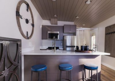 kitchen at hayden village townhomes